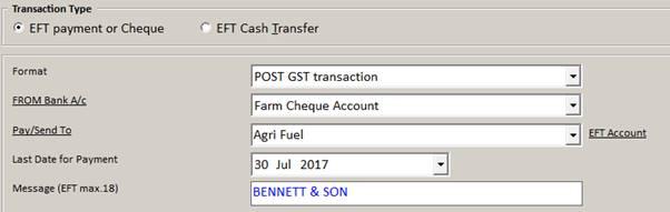 Create Eft Transactions Agrimaster